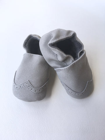Nubuck Suede Moccasins (Genuine Leather) - Grey