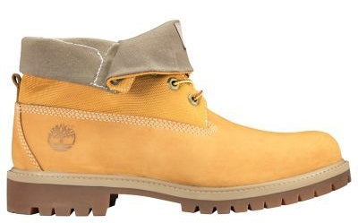 Timberland Men's Heritage Newbuck Roll Top Ankle Boots Wheat