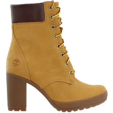 Timberland 6 Inch Boots Wheat with heels