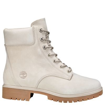 Timberland Jayne 6 In Ankle Boots White - Women's Casual