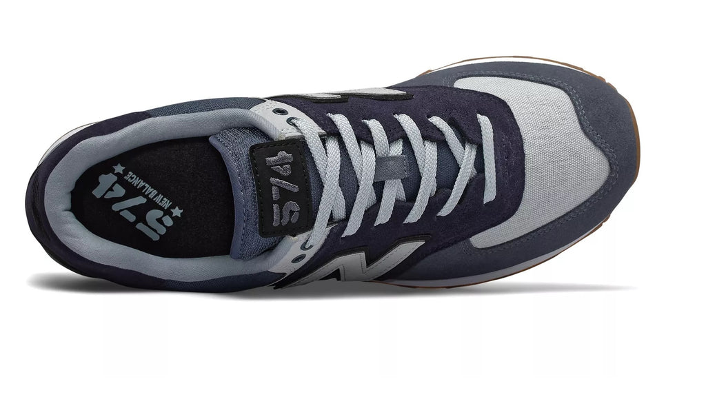 574 Military Patch Shoes Navy with