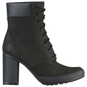 Timberland  6 Inch Boots Black with heels
