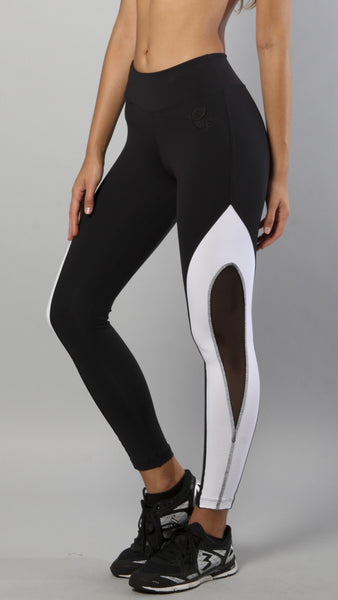 Mesh b&w leggings