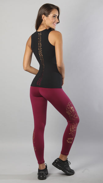Andrea leggings-burgundy