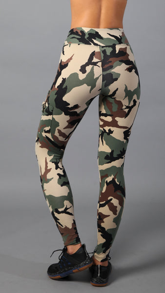 Buckle camo leggings