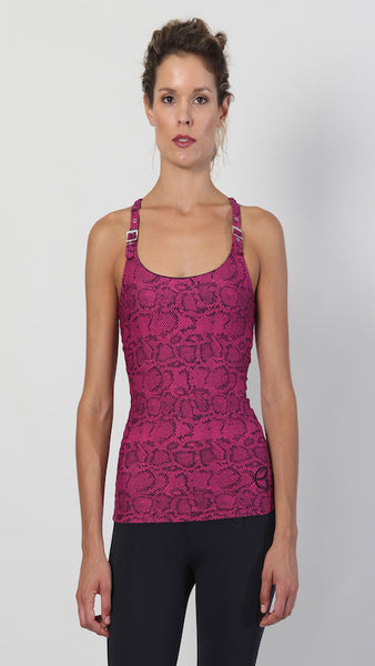 Buckle tank - pink snake