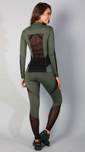 Army mesh leggings