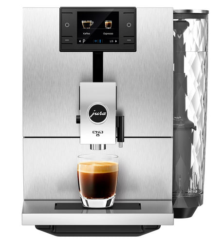 Jura Ena 8 Super Automatic Espresso Machine - Massive Aluminium