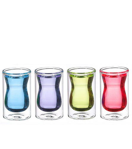 Grosche Istanbul Double-Walled Shot Glasses - 90ml - Set of 4