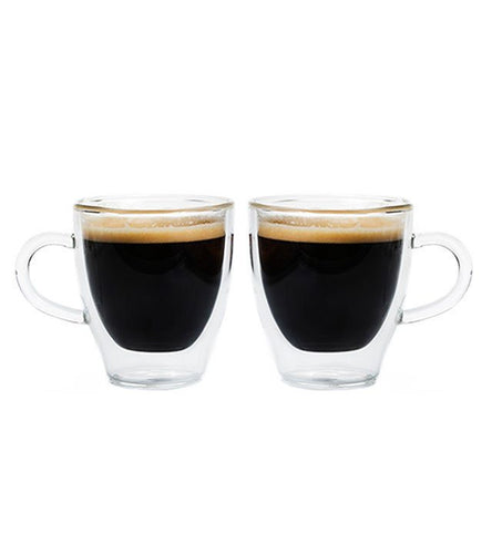 Grosche Turin Double Walled Espresso Cups (Set of 2) - 2 Sizes