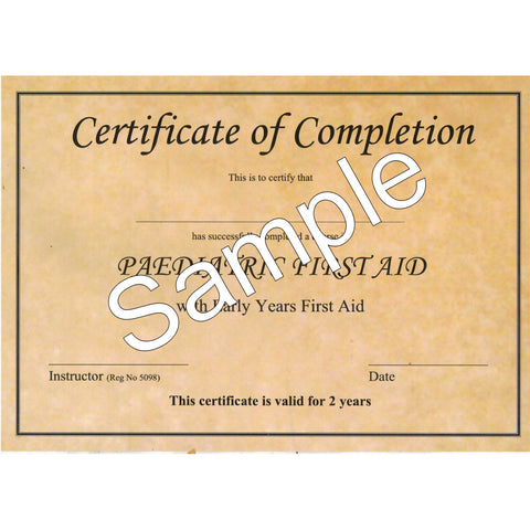 Replacement Certificate of Completion