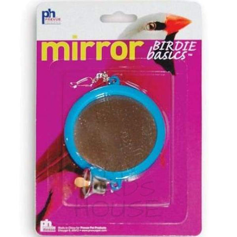 2-Sided Mirror with Bell Bird Cage