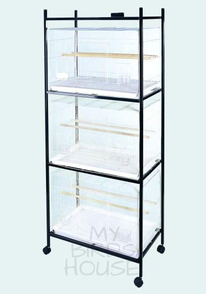 503 Stand-4 Black - 4 Tier Stand For Flight Cages Cage