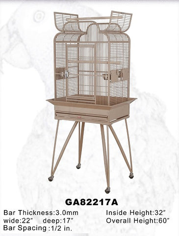 "HQ 22"" x 17"" Arch Opening Scroll Top Bird Cage"