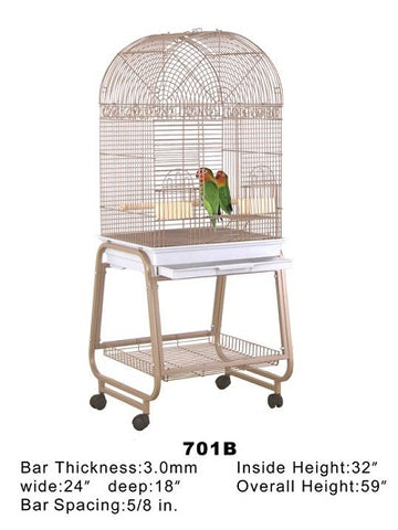 "HQ 24"" x 18"" Dome Top Bird Cage"