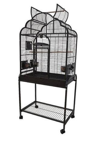"HQ 28"" x 18"" Opening Victorian Top Bird Cage"