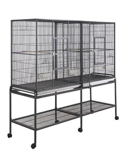 "HQ Cage 64"" x 21"" Double Flight Bird Cage"