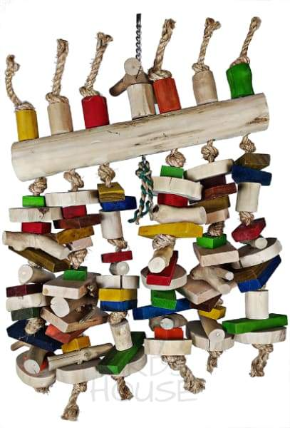 Abacus Hanging Java Wood Bird Toy