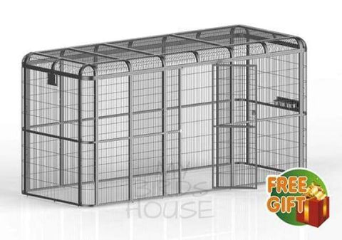 "A&E Cage Co. 110"" x 110"" x 79"" Walk In Aviary"