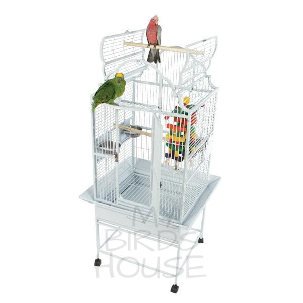 "A&E Cage Co. 24"" x 22"" Opening Victorian Top Stainless Steel Bird Cage"
