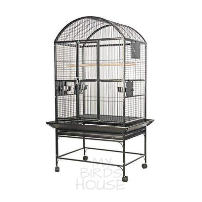 "A&E Cage Co. 24"" x 22"" Stainless Steel Dome Top Bird Cage"