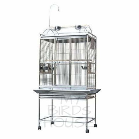 "A&E Cage Co. 32"" x 23"" Stainless Steel Play Top Bird Cage"