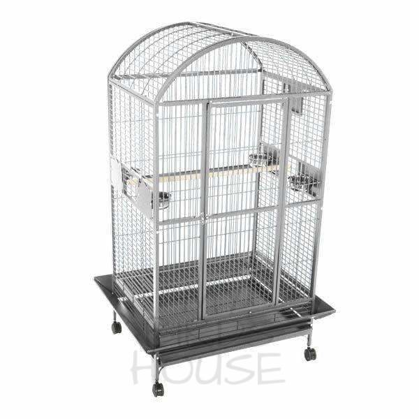 "A&E Cage Co. 36"" x 28"" Stainless Steel Dome Top Bird Cage"