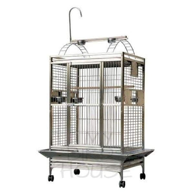 "A&E Cage Co. 36"" x 28"" Stainless Steel Play Top Bird Cage"