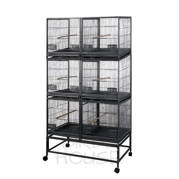 "A&E Cage Co. 40"" x 20"" 6 Unit Breeder Bird Cage"