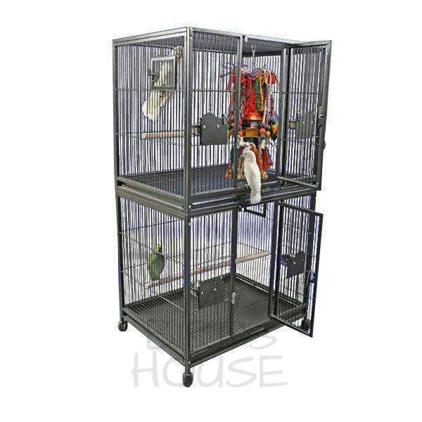 "A&E Cage Co. 40"" x 30"" Double Stack Breeder Bird Cage"