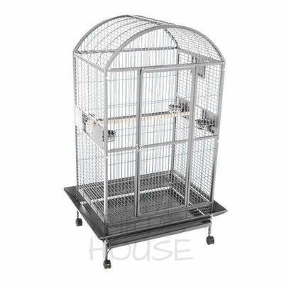 "A&E Cage Co. 40"" x 30"" Stainless Steel Dome Top Bird Cage"