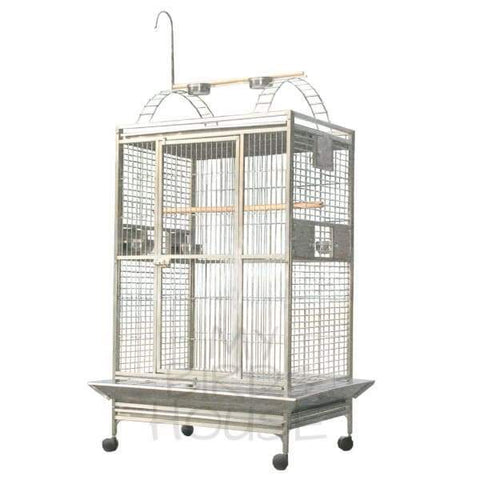"A&E Cage Co. 40"" x 30"" Stainless Steel Play Top Bird Cage"