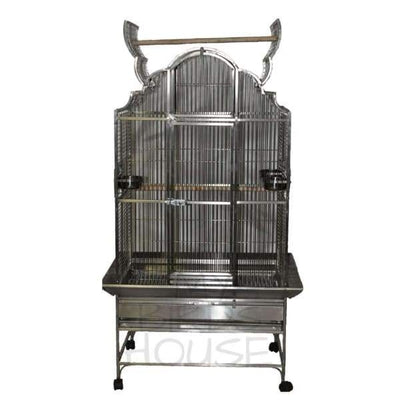 "A&E Cage Co. 40"" x 32"" Opening Victorian Top Stainless Steel Bird Cage"