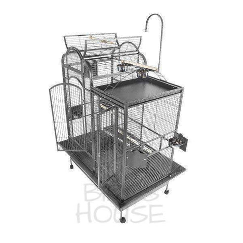 "A&E Cage Co. 42"" x 26"" Stainless Steel Split Level House Bird Cage"