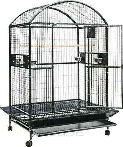"A&E Cage Co. 48"" x 36"" Stainless Steel Dome Top Bird Cage"