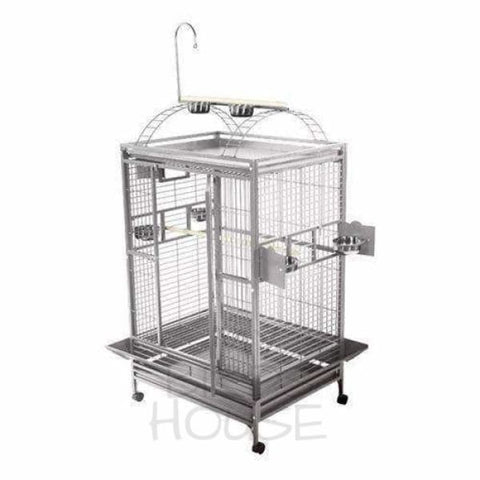 "A&E Cage Co. 48"" x 36"" Stainless Steel Play Top Bird Cage"