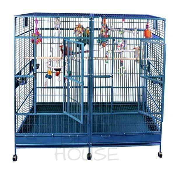 "A&E Cage Co. 80"" x 40"" Huge Double Macaw Bird Cage"