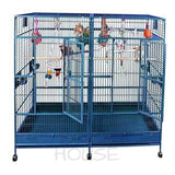 "A&E Cage Co. 80"" x 40"" Stainless Steel Huge Double Macaw Bird Cage"