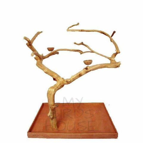A&E Cage Co. Extra Large Java Wood Tree Floor Play Stand