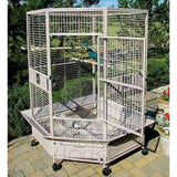 A&E Cage Co. Extra Large Corner Bird Cage Stainless Steel