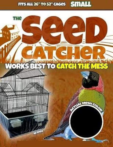 The Seed Catcher Seed Guard Bird Cage Parrot Cockatiel Parakeet Small