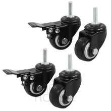Load image into Gallery viewer, Bird Cage Caster Wheels With Brakes - Set Of 4 1.5 Inches Replacement Parts