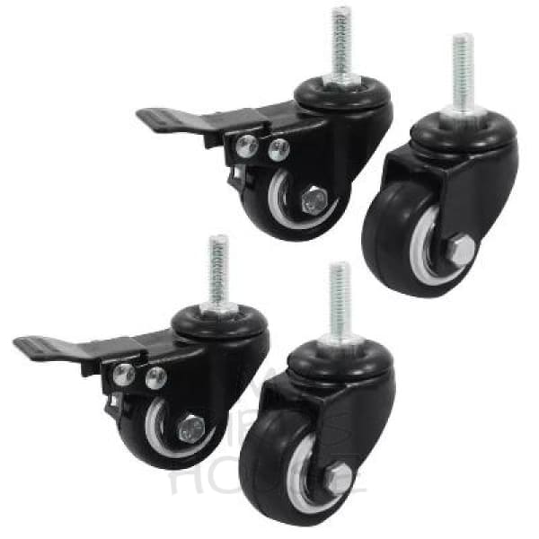 Bird Cage Caster Wheels With Brakes - Set Of 4 1.5 Inches Replacement Parts