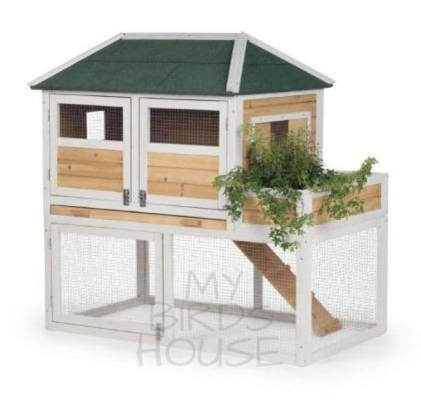 CHICKEN COOP WITH HERB PLANTER