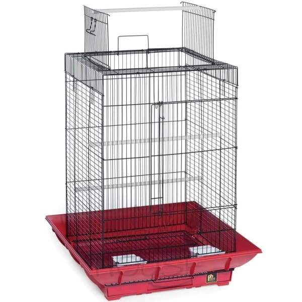 Clean Life Playtop Bird Cage - Red