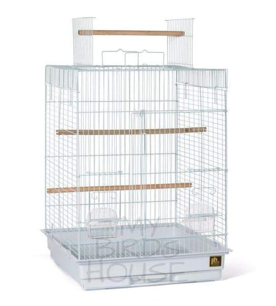 Cockatiel Playtop Bird Cage - White