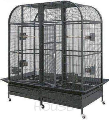 "HQ 64"" x 32"" Double Macaw with Divider Bird Cage"