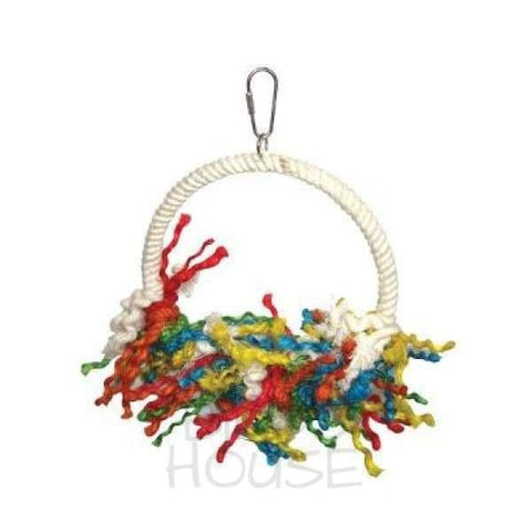 Large Rope Preening Swing Bird Toy
