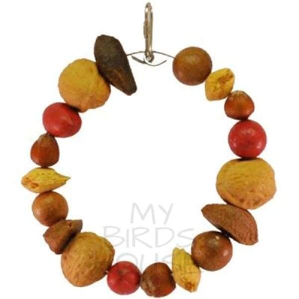 Tropical Delight Mixed Nut Ring Bird Toy
