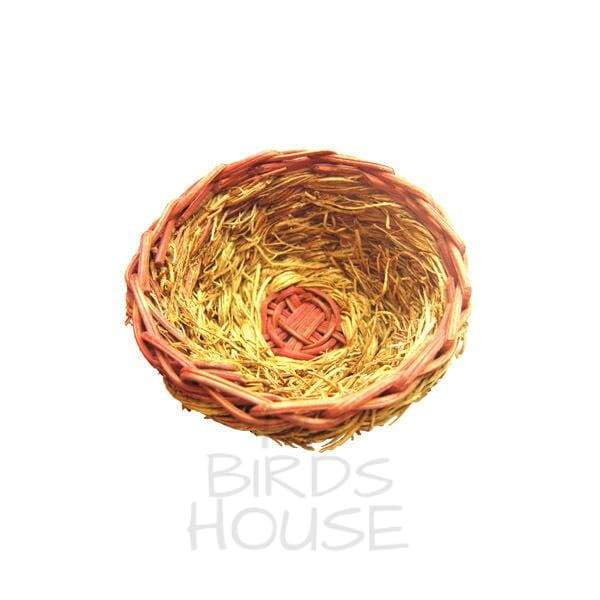 Natural Open Finch Nest Small Bird Toy